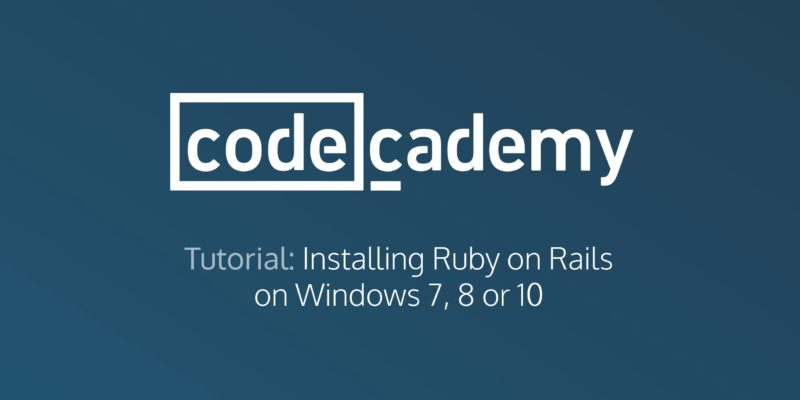 how to install ruby on windows 10 step by step