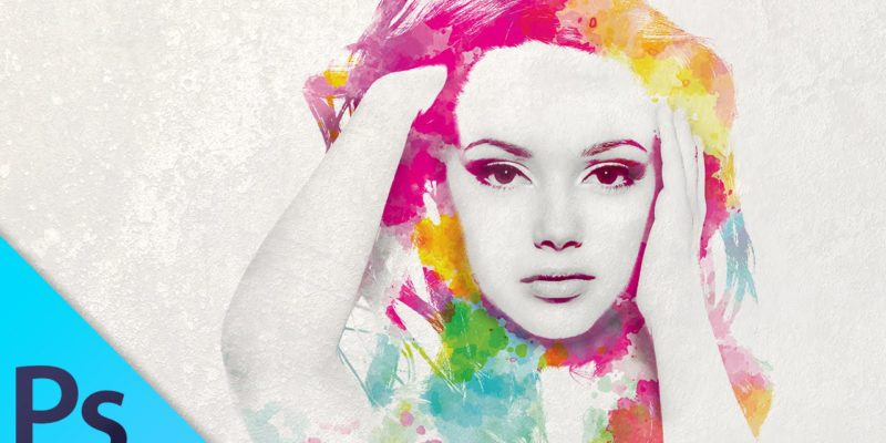 how to draw watercolor in photoshop